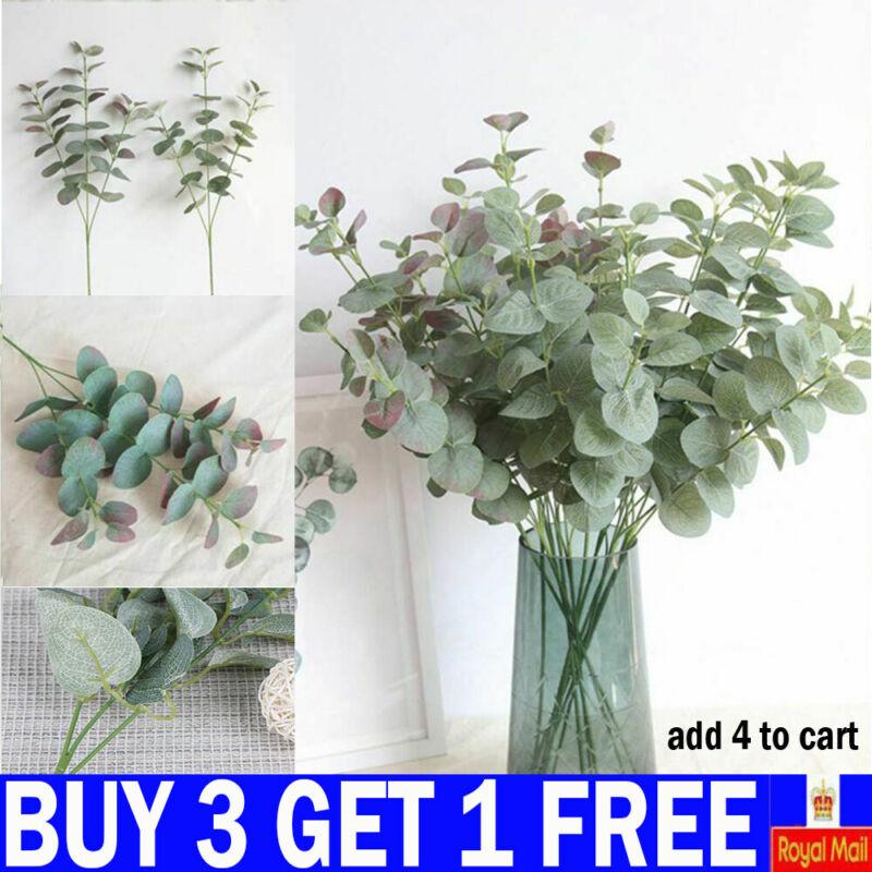 Home Decoration - Artificial Fake Leaf Eucalyptus Green Plant Silk Flowers Nordic Home Decor-YY UK