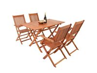 Wooden Garden Furniture Set Patio Dining Table and Chairs Set