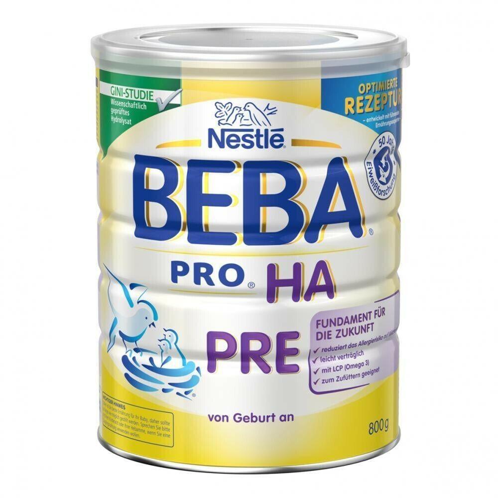 Nestlé BEBA PRO HA Pre Babynahrung Neu UVP Angebot (800 g x 4)
