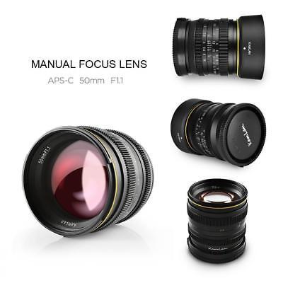 Kamlan 50mm F/1.1 Manual Focus Lens Aperture for Sony E-mount  Mirrorless Camera