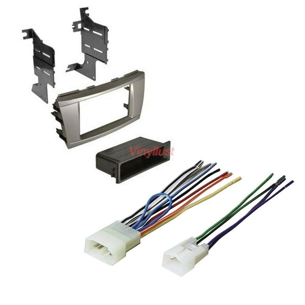 Details about Complete Stereo Install Kit: SILVER Dash & Radio Wire on