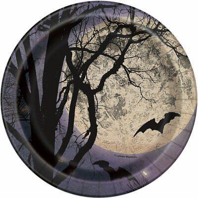 16 X Gruselig Nacht 17.8cm Papier Party Mittagessen - Halloween Papier Platten