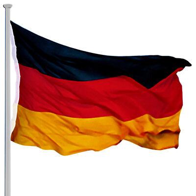 Fahnenmast Alu 6,50m Flaggenmast Aluminium Mast Flagge Seilzug Bodenhülse