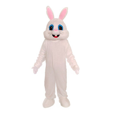 Plush White Bunny Rabbit Adult Mascot Costume Adult Size Easter](White Rabbit Adult Costume)
