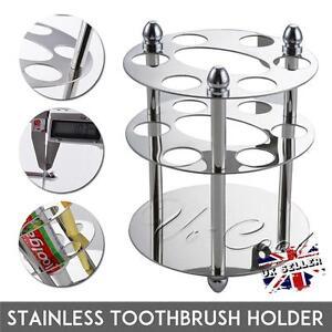 UK New Stainless Steel Toothbrush & Toothpaste Screw Cup Holder Bathroom Storage