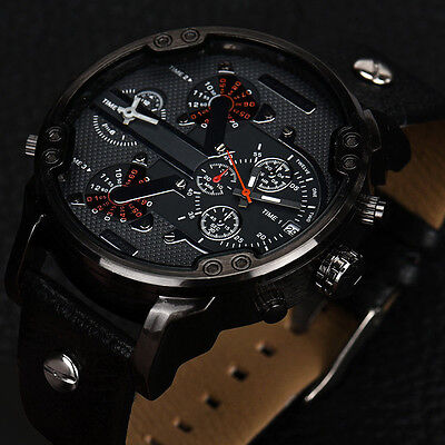 $8.99 - Men's Fashion Luxury Watch Stainless Steel Analog Quartz Sport Mens Wristwatches