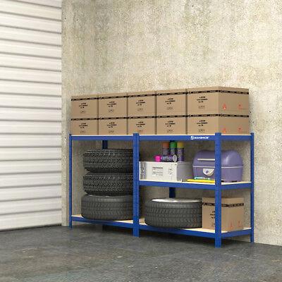 Gebrauchte Lagerregal Steckregal 180 x 90 x 45 cm blau R183489B+GLR45Q