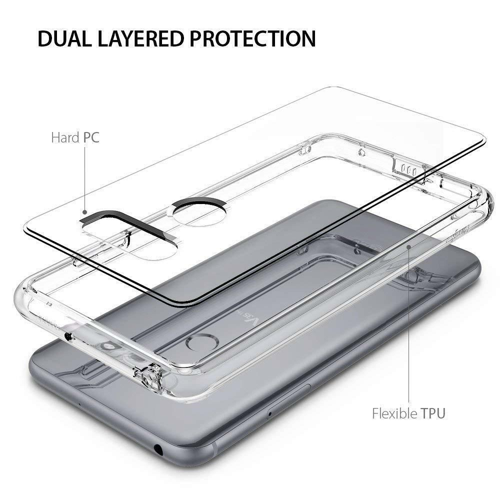 For LG V35 / V35 ThinQ | Ringke [FUSION] Clear PC Back Shockproof TPU Cover Case
