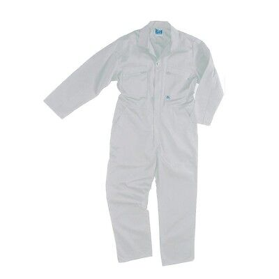 New Mens Zip Boilersuit Overall Coverall Work Painters Decorators White 36-50