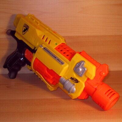 Nerf ***BARRICADE RV-10*** N-Strike motorized blaster CLEAN BATTERY COMPARTMENT!