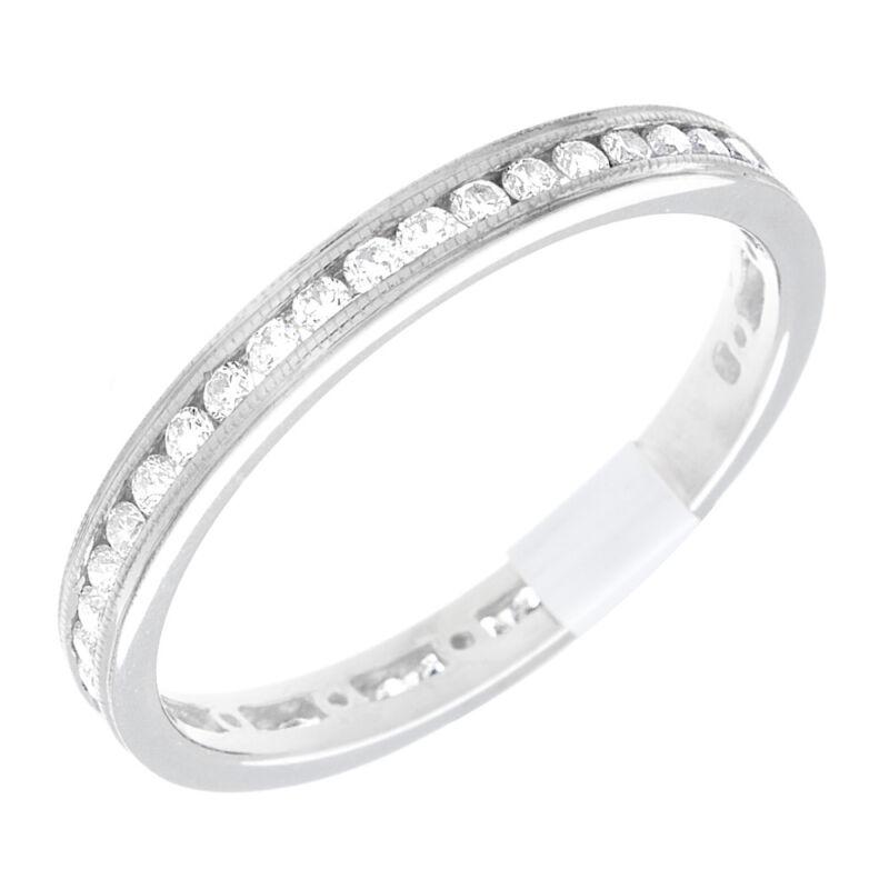 Diamond Round Shape 14k Gold 2.00 Carat Eternity Ring Dia Certified