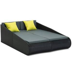 2-person Outdoor PE Wicker Daybed
