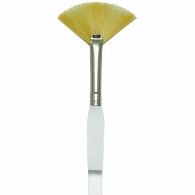 Gold Taklon Fan (ROYAL BRUSH SG850 Soft Grip Gold Taklon Fan Size 20/0)