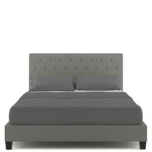 Luxo Helmi Fabric Upholstered Double Bed Frame - Grey