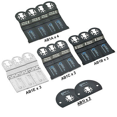 Abmtkit1 15 Pcs Universal Oscillating Multi-tool Blade Accessory Kit For Dremel