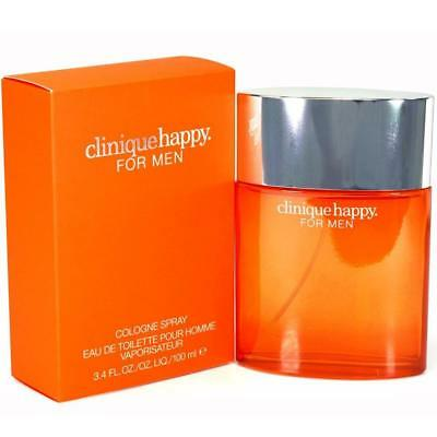 CLINIQUE HAPPY Pour Homme Cologne edt for Men 3.4 oz 3.3 New in Box