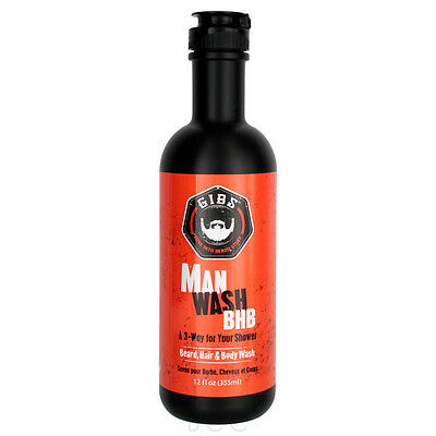 GIBS Guys Into Beard Stuff Man Wash BHB - Beard, Hair & Body Shower Gel 12 - Man Shower