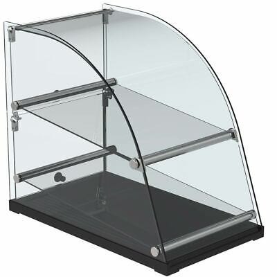 Marchia Ca70 14 Curved Glass Extra Deep Countertop Dry Display Case 2 Shelves