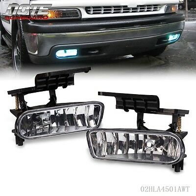 For 00-06 Chevy Suburban/ Tahoe Clear Bumper Fog Lights Driving Lamps
