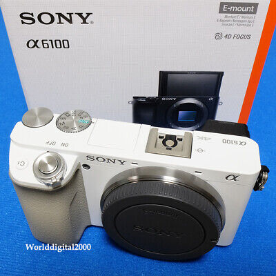 Sony a6100(ILCE-6100) Only Body -White- 4K Recording 180 Tilt LCD 13 Languages