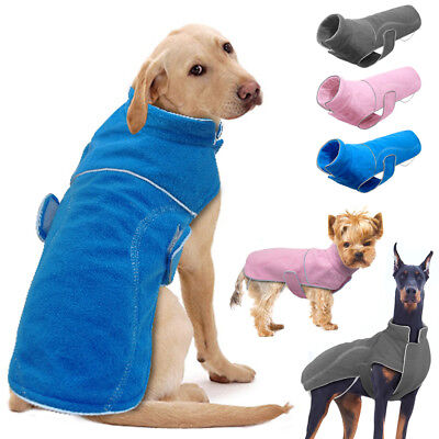 Dog Windproof Jacket Shell Reflective Coat Fleece Clothes Outdoor Gear All Size