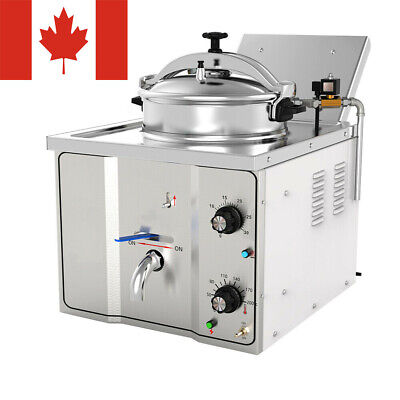 Ca Ship Commercial Electric Countertop Pressure Fryer 16l Stainless Chicken Fish