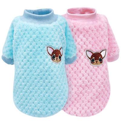 (Soft Plush Winter Dog Clothes Pajamas Jumper Sweater Puppy Dog Chihuahua Coat)