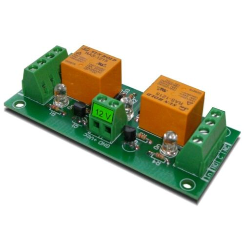 Two Channel SPDT Relay Module Board,12V DC
