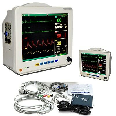 Fda 12 1 Inch Medical Icu Ccu 6 Parameters Vital Signs Patient Monitor Nibp Spo2