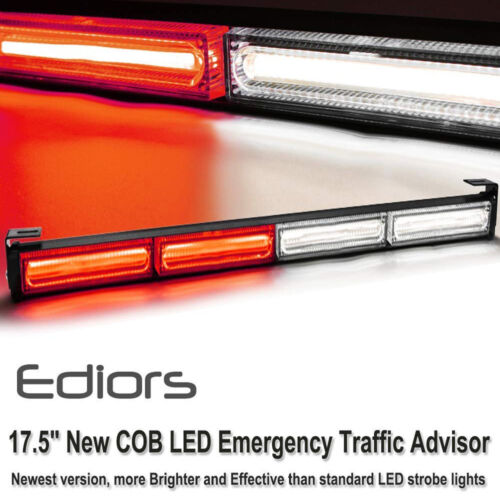 Vehicle Strobe Lights >> Details About 17 5 4cob Led Emergency Warning Trunk Traffic Advisor Vehicle Strobe Light Bar