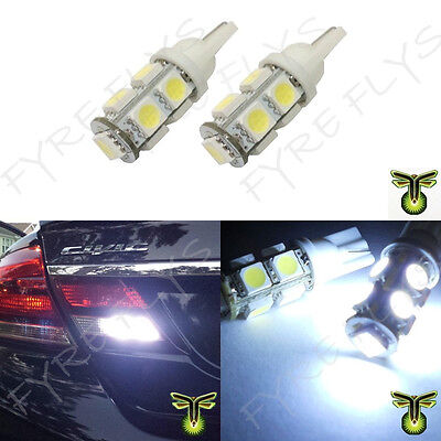 2x Xenon White LED Back Up  Reverse  Light  Bulbs 9 SMD Lamp T10 921 194 #R2