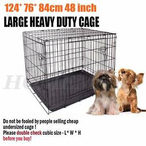 "A 48"" Metal Collapsible Cage Crate DOG PET CAT Training Rabbit Richlands Brisbane South West Preview"