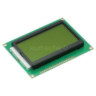 5v 12864 Lcd Display Module 128x64 Dots Graphic Matrix Yellow Green Backlight F