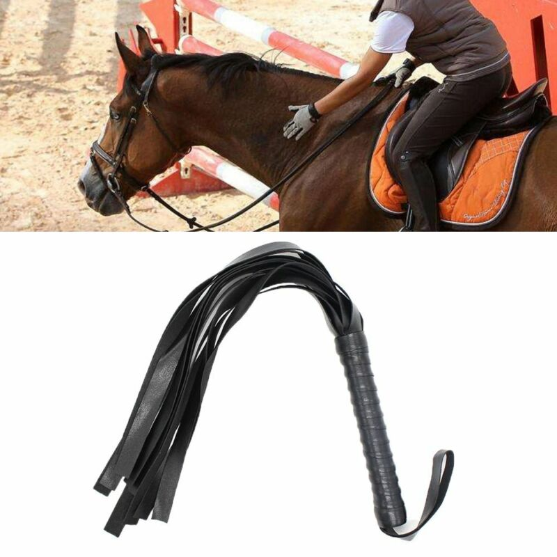 Riding Crop Horse Whip Faux Leather Flogger Horse Bandage new Whip Restraint