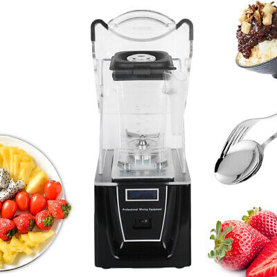 Commercial Electric Soundproof Cover Blender Fruit Juicer Smoothie Maker Mixer