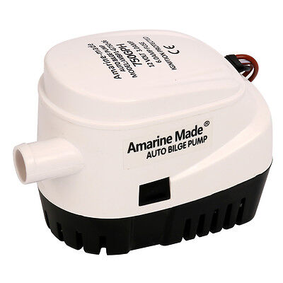Amarine-made Automatic Submersible Boat Bilge Water Pump 12v 750gph Auto