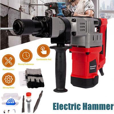 1280w Demolition Jack Hammer Electric Concrete Breaker Punch 2 Chisel Bit W Case