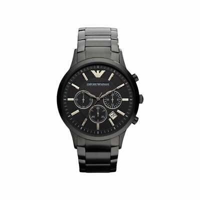 EMPORIO ARMANI Classic AR2453 Chronograph Black Dial Men's Wrist Watch - (Emporio Armani For Men)