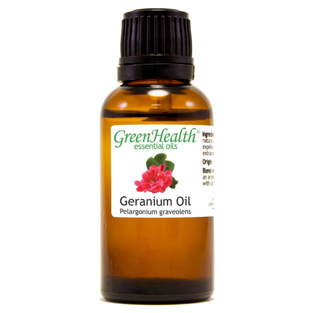 Essential Oils 30 mL (1 oz) - Pure & All Natural - Aromatherapy Oil Geranium