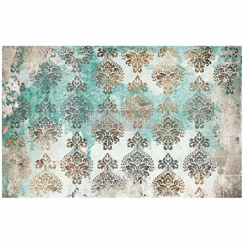 """Patina Flourish - 1 sheet 19""""x30"""" decoupage paper by redesign with Prima!"""