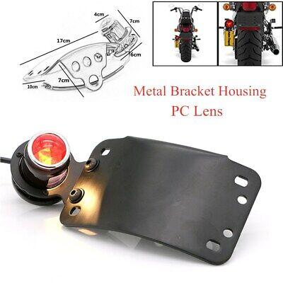 LED Tail Light Side Mount License Plate Bracket Holder Tail Brake Lamp Indicator