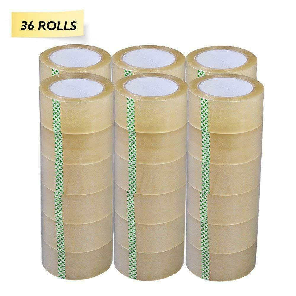 36 Rolls Clear Packing Packaging Carton Sealing Tape 2.0 Mil Thick 2×110 Yards Business & Industrial