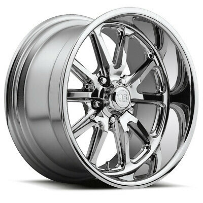 "Staggered US Mags U110 Rambler 17x7,17x8 5x114.3/5x4.5"" +1mm Chrome Wheels Rims"