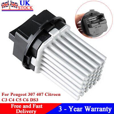 Fits Peugeot 307 407 Citroen C3 C4 C5 C6 DS3 Heater Blower Motor Fan Resistor UK