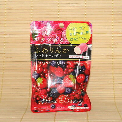 Japanese Kracie MIX BERRY FUWARINKA Soft Chewy Candy Japan Rose Vitamin C