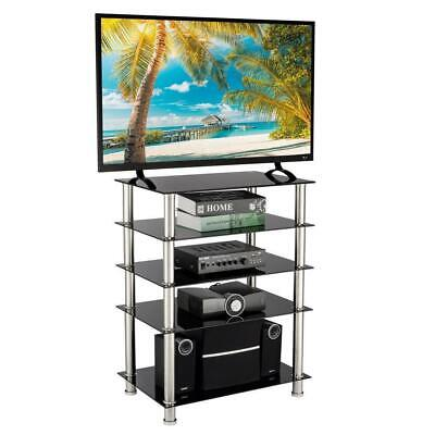 5-Tier Audio Video Tower Rack HiFi Stereo Stand for TV/Xbox/Gaming Consoles