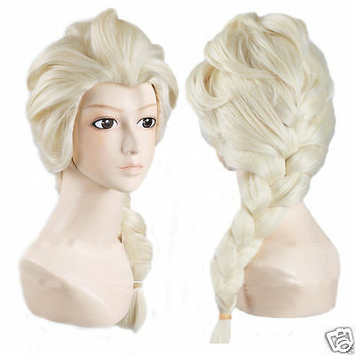 Frozen Elsa Snow Queen Blonde Wig Adult  Fancy Dress Costume Princess FREE CROWN](Snow Queen Costume Adults)