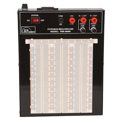 Sun Equipment PBB-4060B Breadboard, Powered, 2420 ties, 5@1.5A, 16V@500mA, 5%