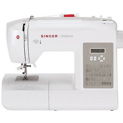 Singer 6180 Brilliance Sewing Machine In White Gray   230061112