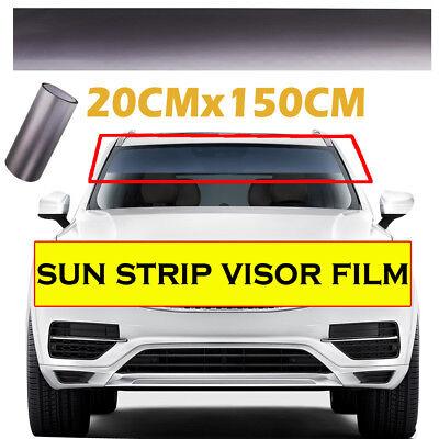 20CMx150CM Black Sun Visor Strip Tint Film Car Front Windshield UV Shade Banner